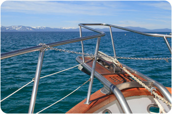 Sailing on Lake Tahoe