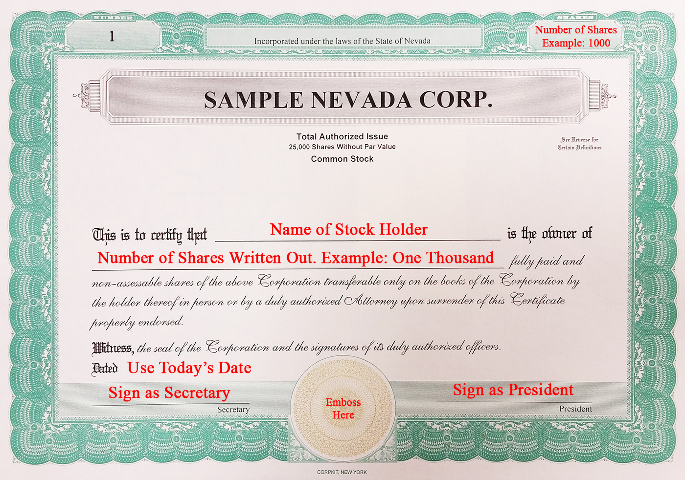 stock certificate example best resumes